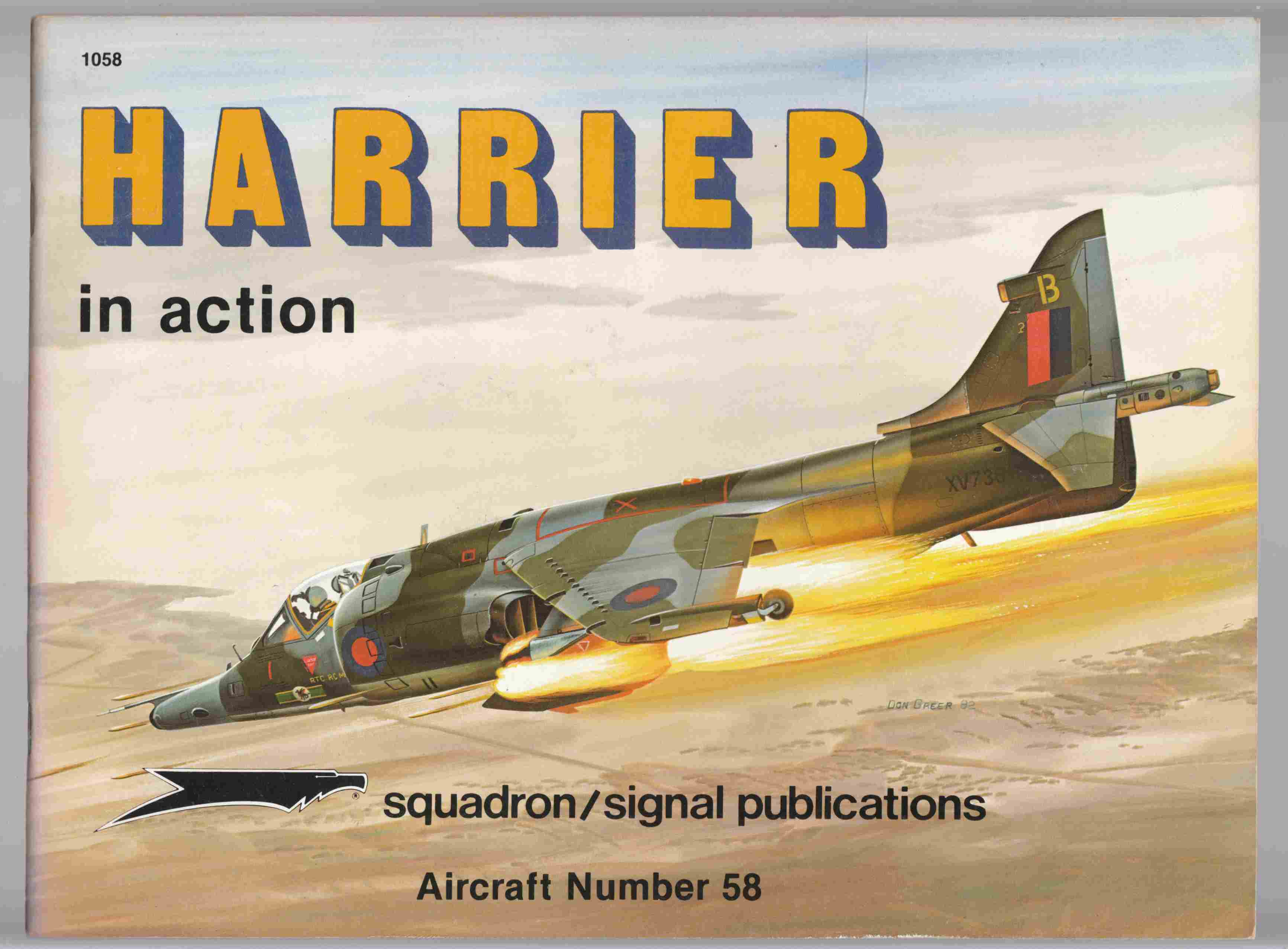 Image for Harrier in Action Aircraft Number 58