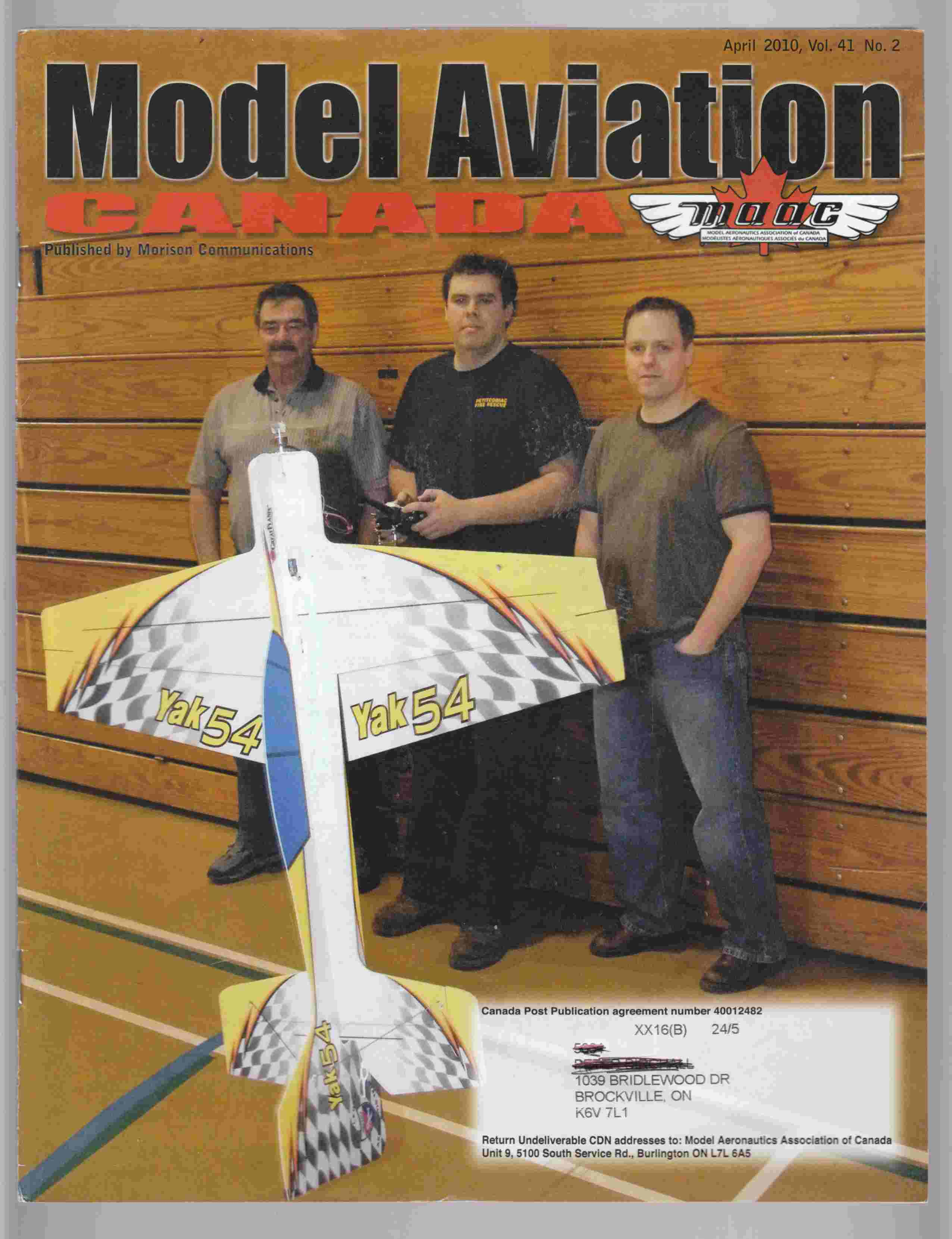 Image for Model Aviation Canada April 2010 Vol. 41 No. 2
