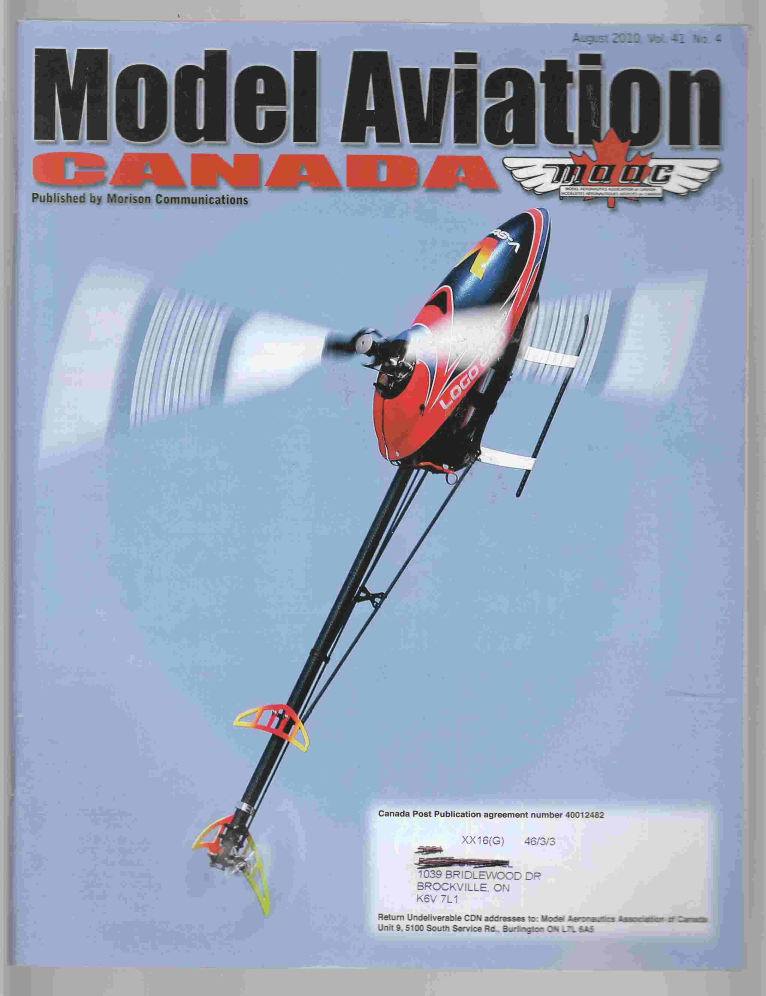 Image for Model Aviation Canada August 2010 Vol. 41 No. 4
