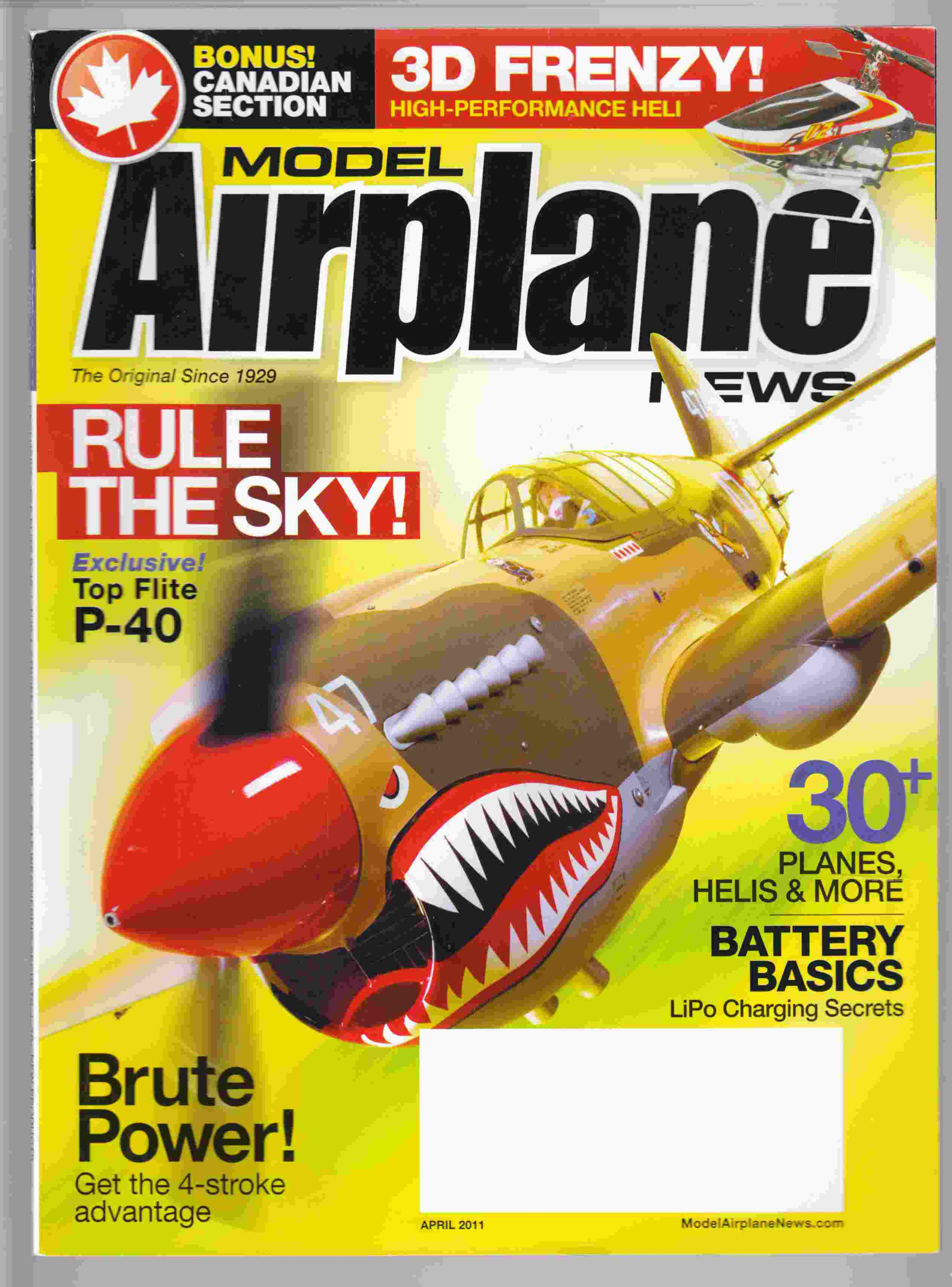 Image for Model Airplane News April 2011 Volume 139, No. 4