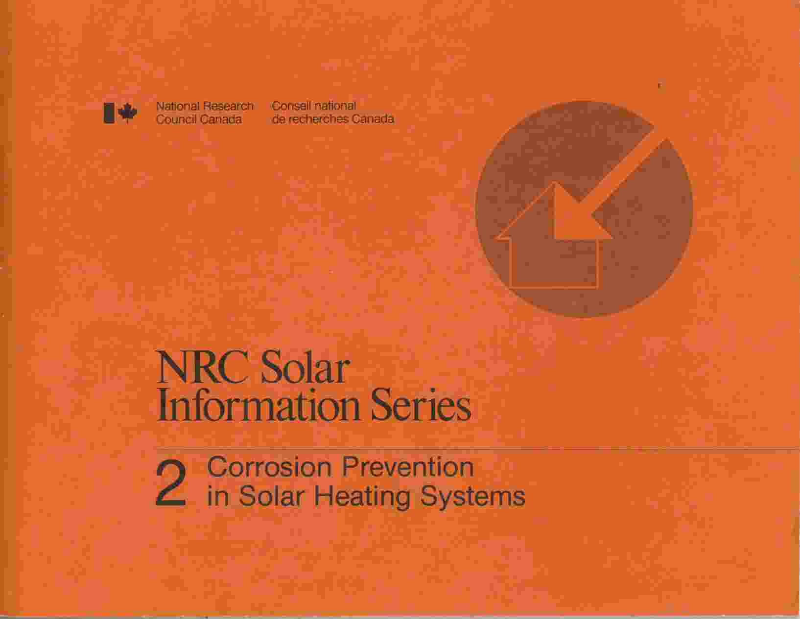 Image for Corrosion Prevention Solar Heating Systems (NRC Solar Information Series No. 2)