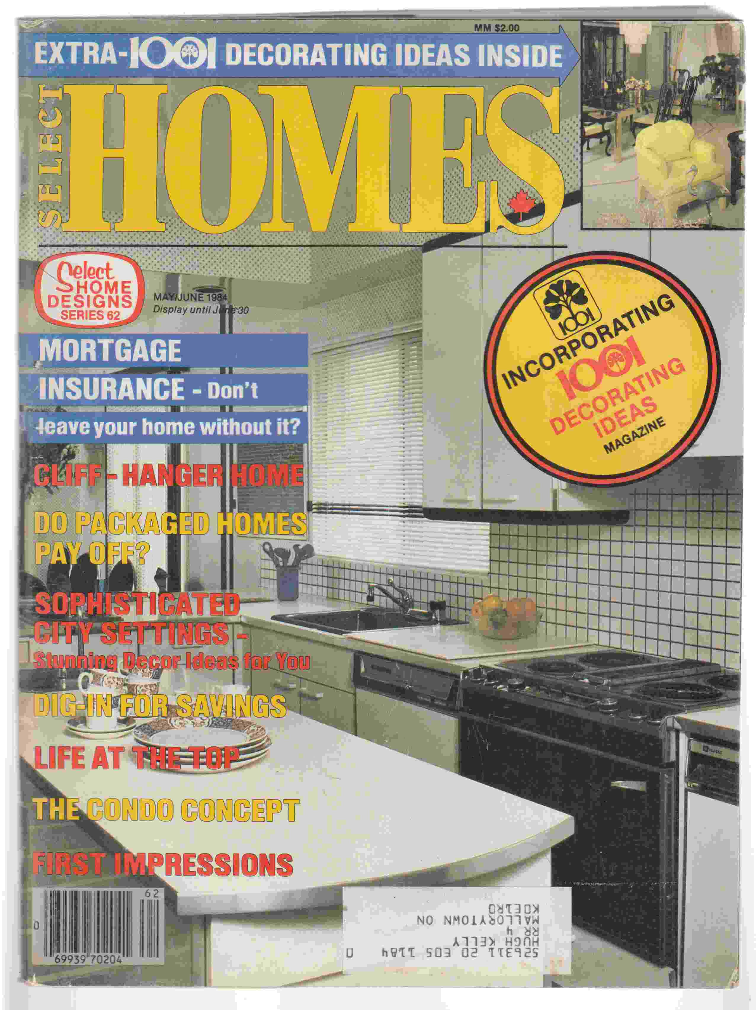 Image for Select Home Designs Series 62 May / June 1984