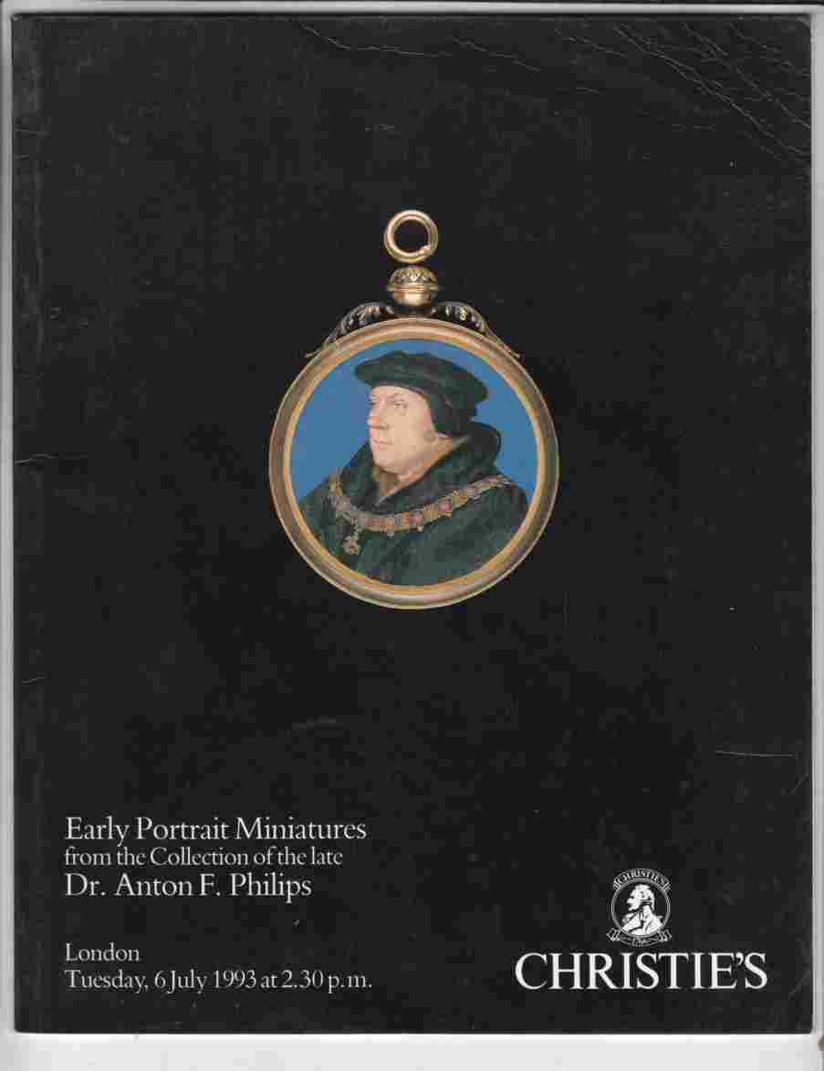 Image for Christie's Early Portrait Miniatures from the Collection of the Late Dr. Anton F. Phillips, London, July 1993