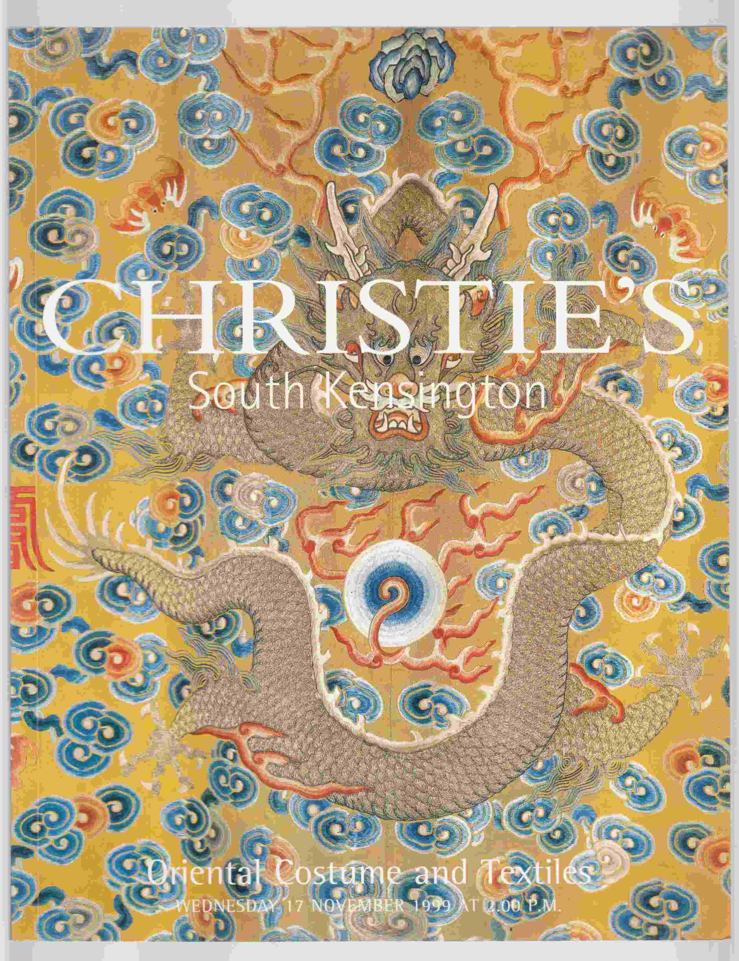 Image for Christie's South Kensington Oriental Costume and Textiles Wednesday 17 November 1999