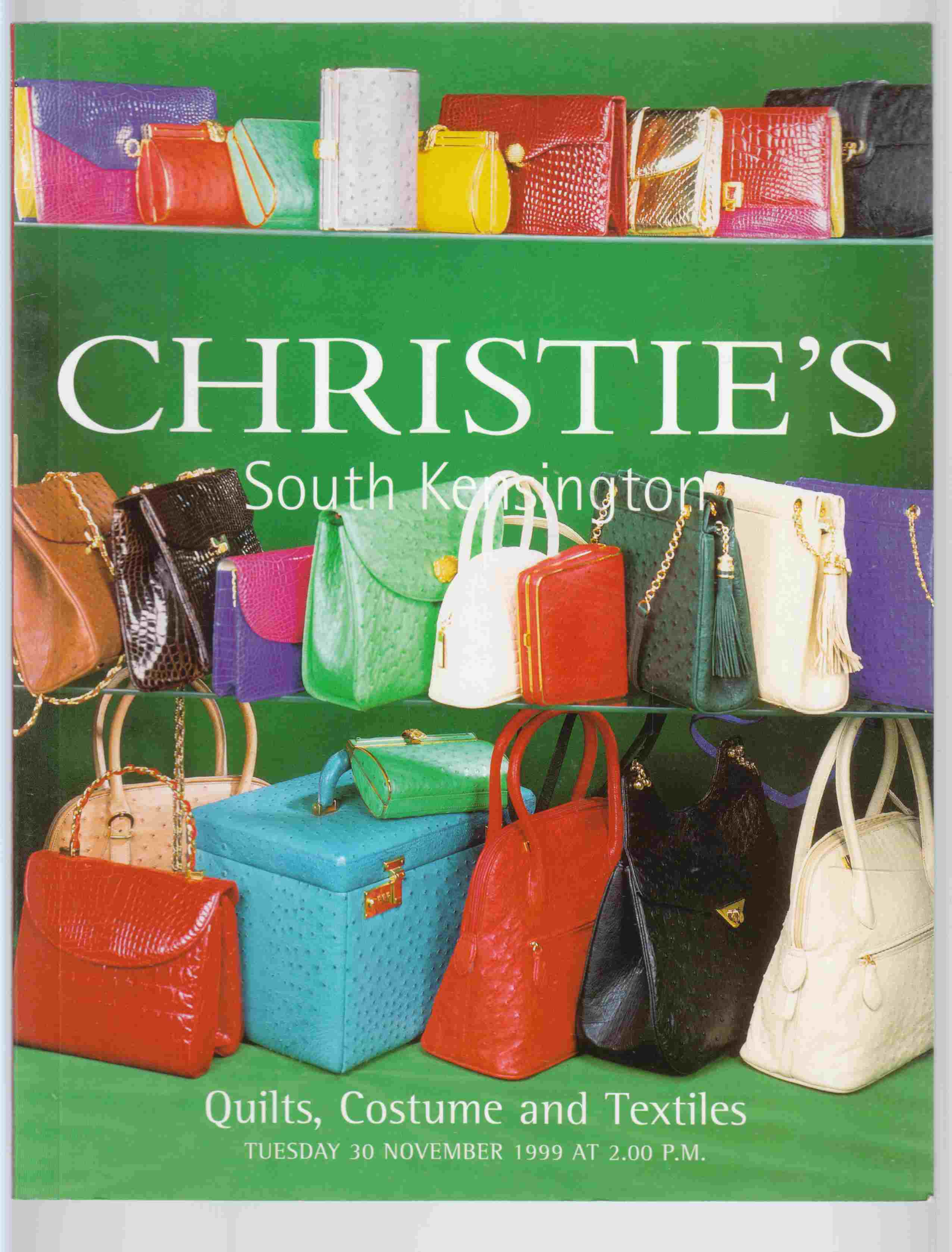 Image for Christie's South Kensington Quilts, Costume and Textiles Tuesday 30 November 1999