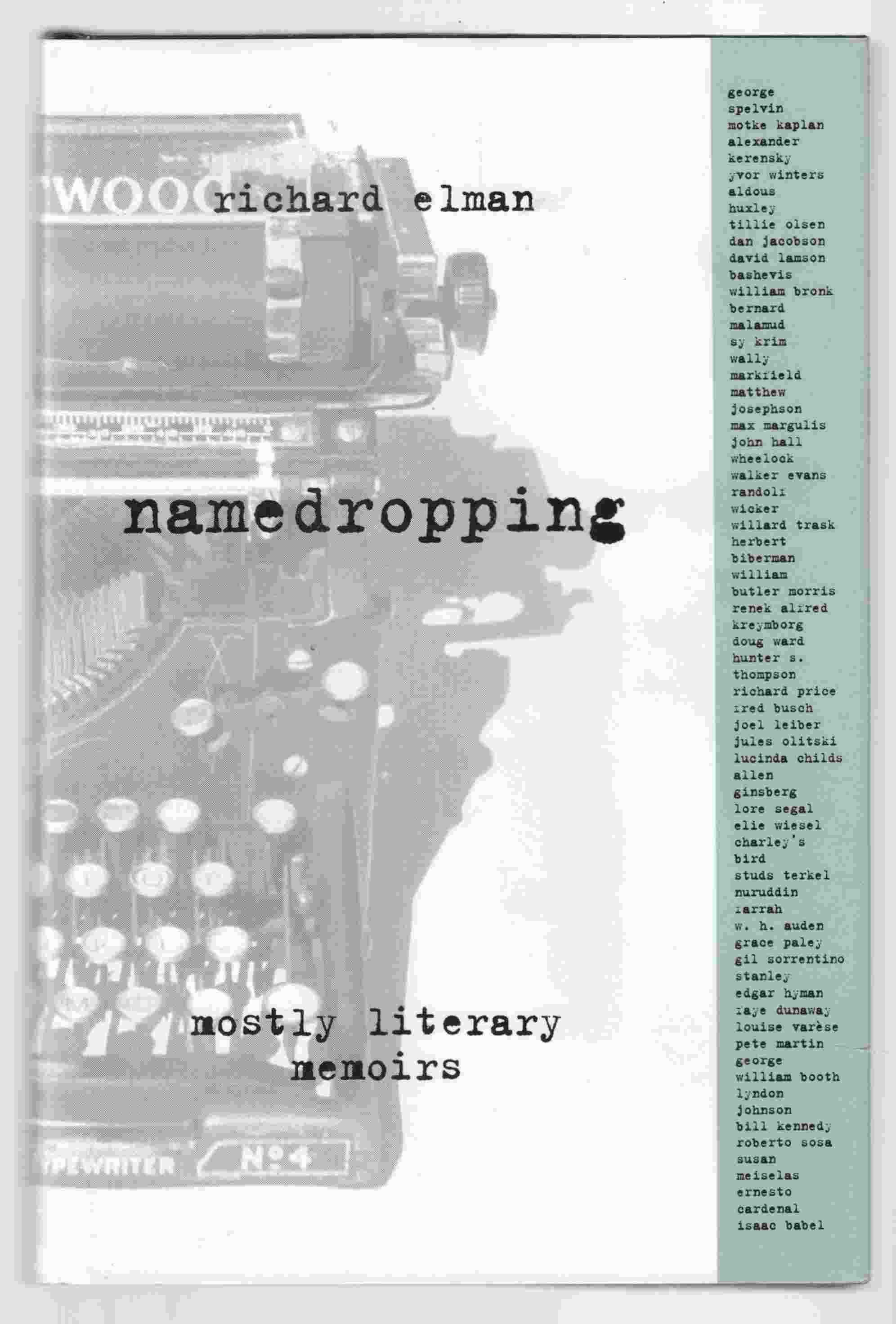 Image for Namedropping: Mostly Literary Memoirs
