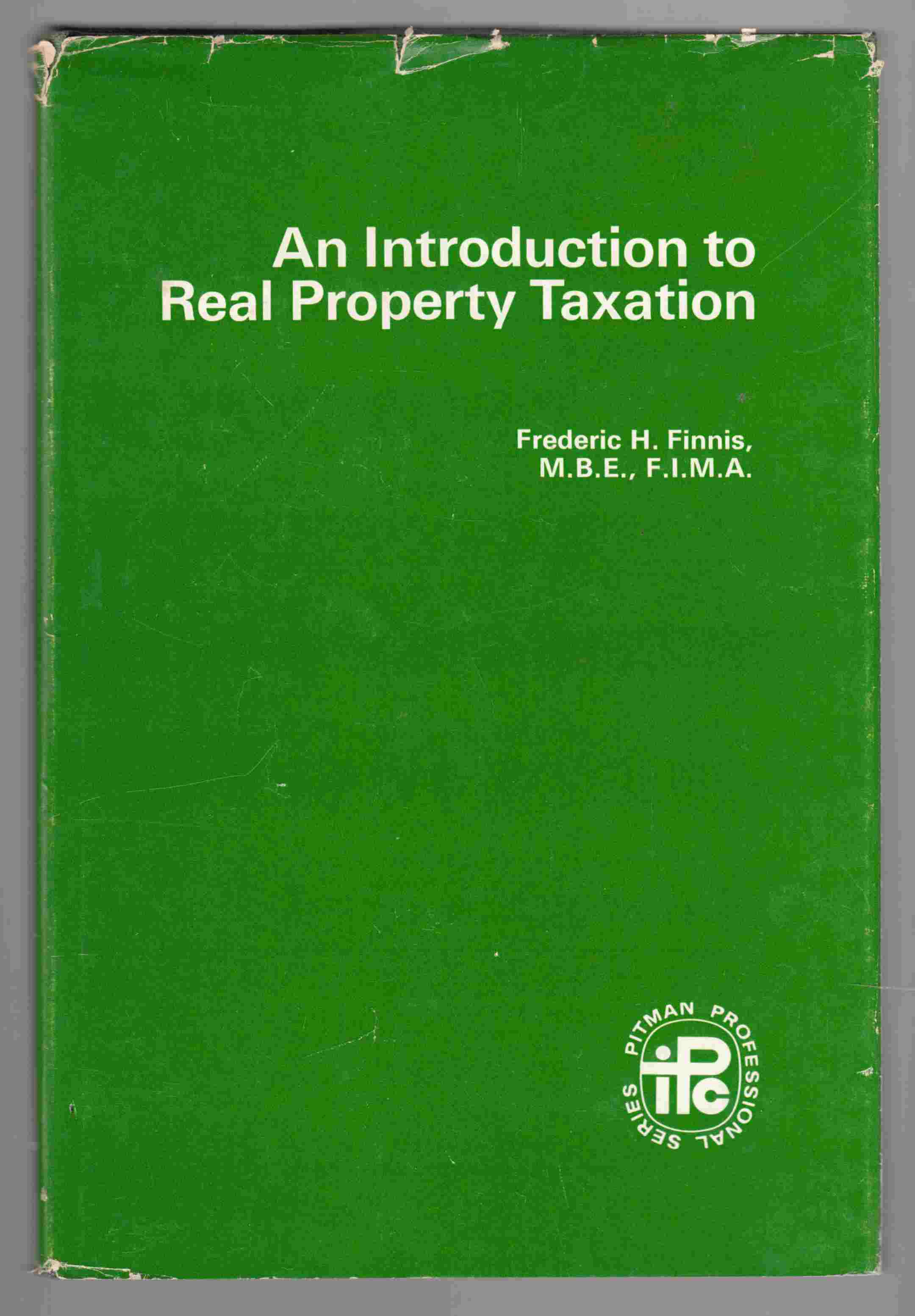 Image for An Introduction to Real Property Taxation