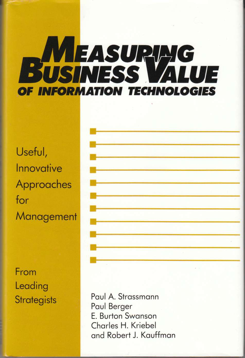 Image for Measuring Business Value of Information Technologies