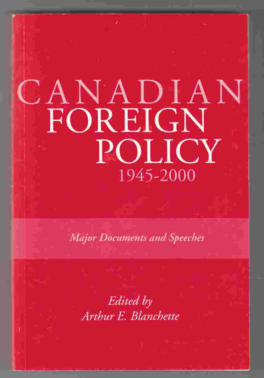 Image for Canadian Foreign Policy, 1945-2000: Major Documents and Speeches