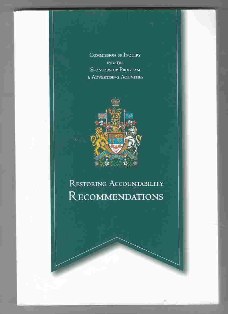Image for Restoring Accountability: Recommendations