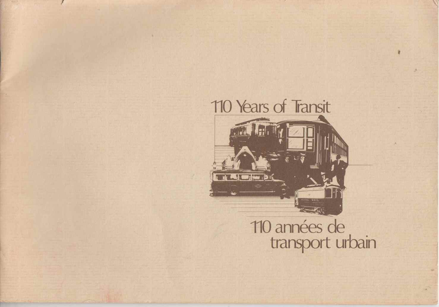 Image for 110 Years of Transit / 110 Annees De Transport Urbain