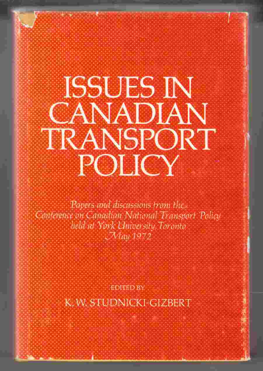Image for Issues in Canadian Transport Policy