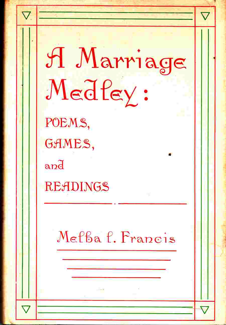 Image for A Marriage Medley: Poems, Games and Readings