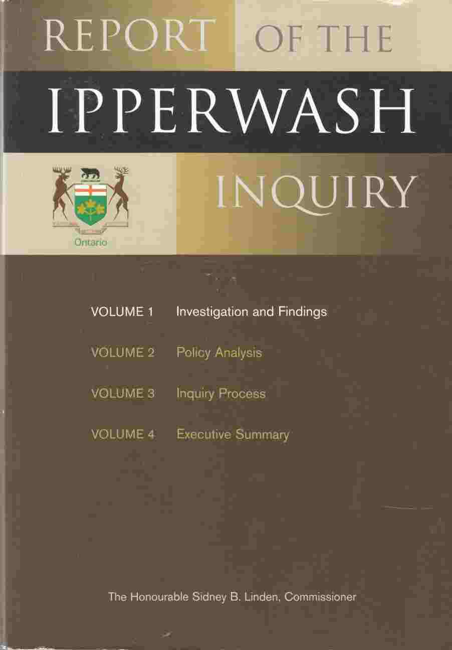 Image for Report of the Ipperwash Inquiry Volume 1 Investigation and Findings