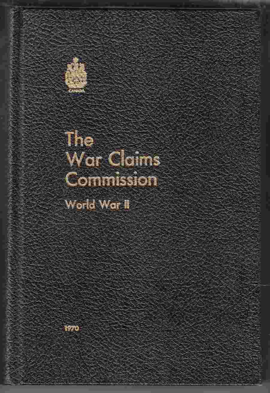 Image for The War Claims Commission World War II