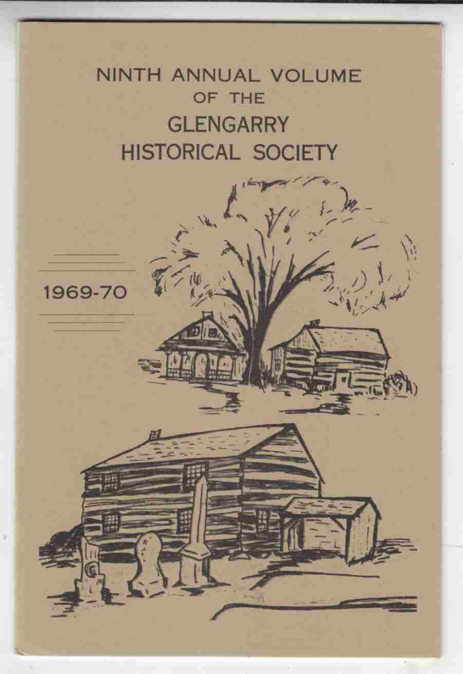 Image for Ninth Volume of the Glengarry Historical Society 1969-70