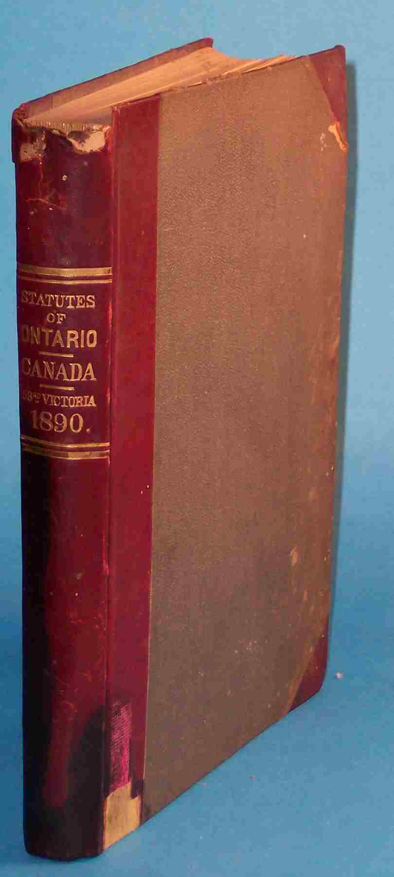 Image for Statutes of the Province of Ontario 1890