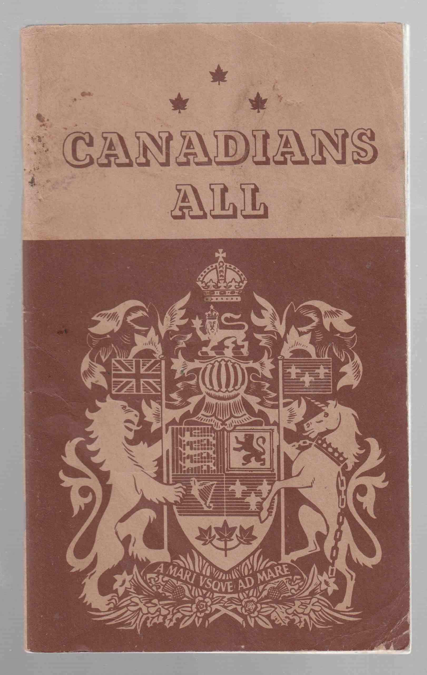 Image for Canadians All A Primer of Canadian National Unity
