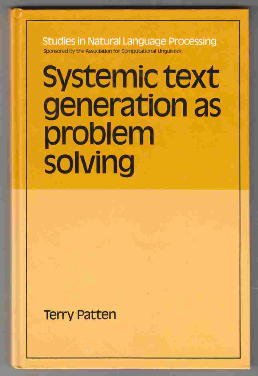 Image for Systemic Text Generation As Problem Solving