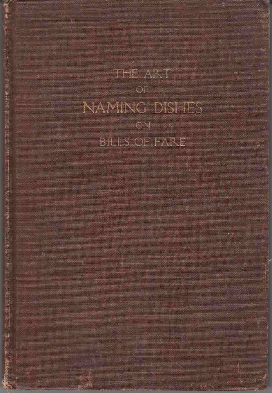 Image for The Art of Naming Dishes on Bills of Fare
