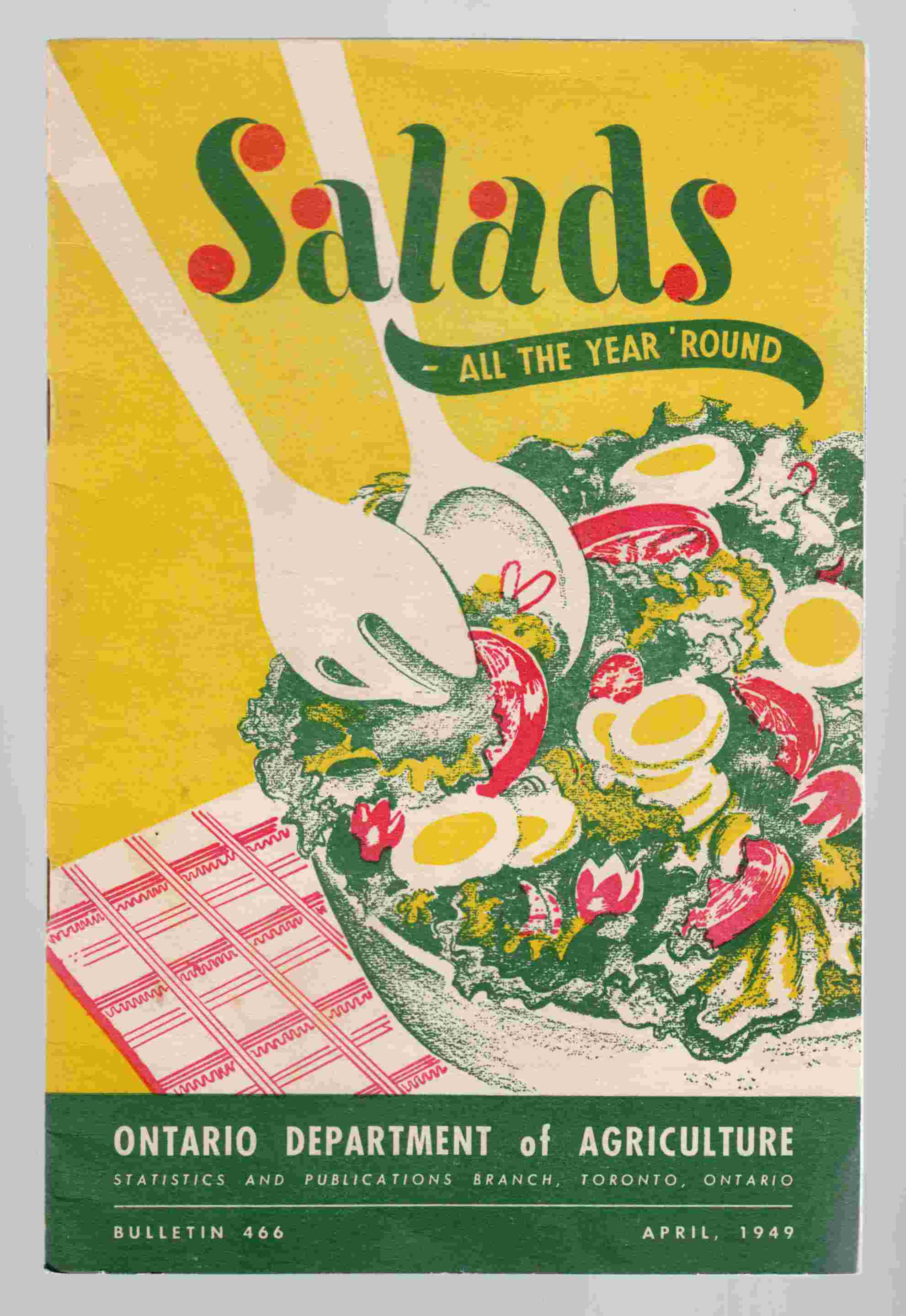 Image for Salads - all the Year 'round Bulletin 466