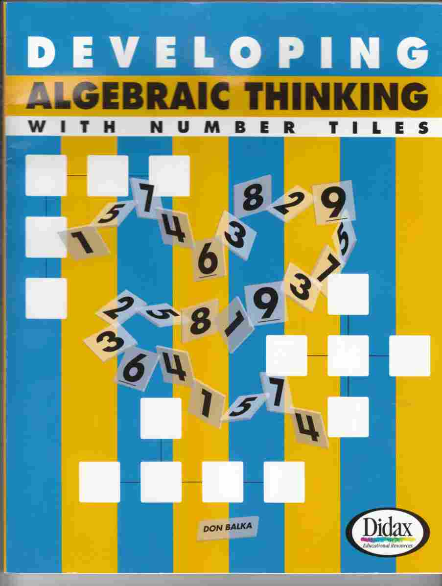 Image for Developing Algebraic Thinking with Number Tiles