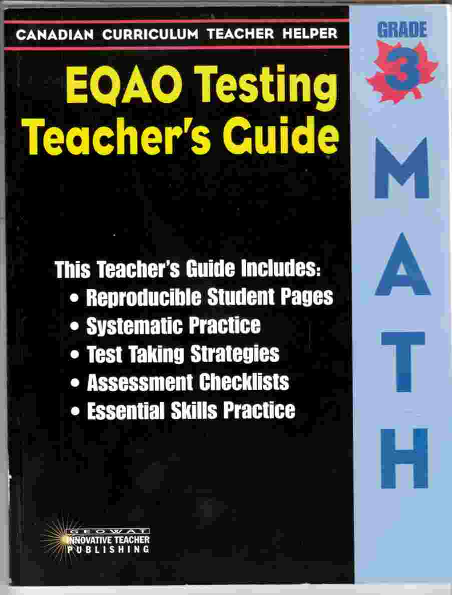 Image for EQAO Teacher's Guide - Math - Grade 3