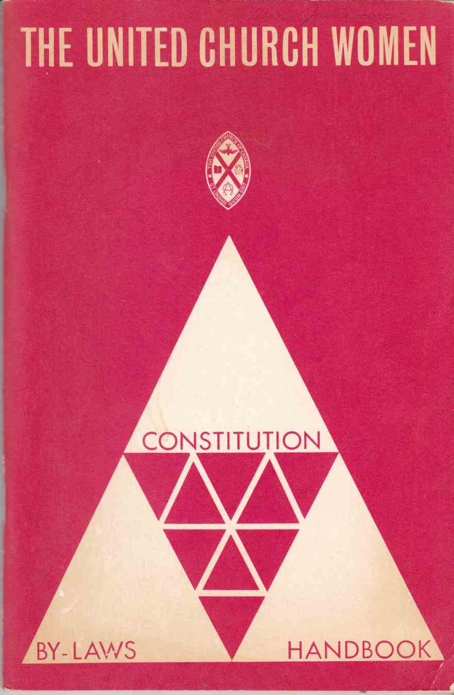 Image for The United Church Women: Constitution By-laws Handbook (First Revision)