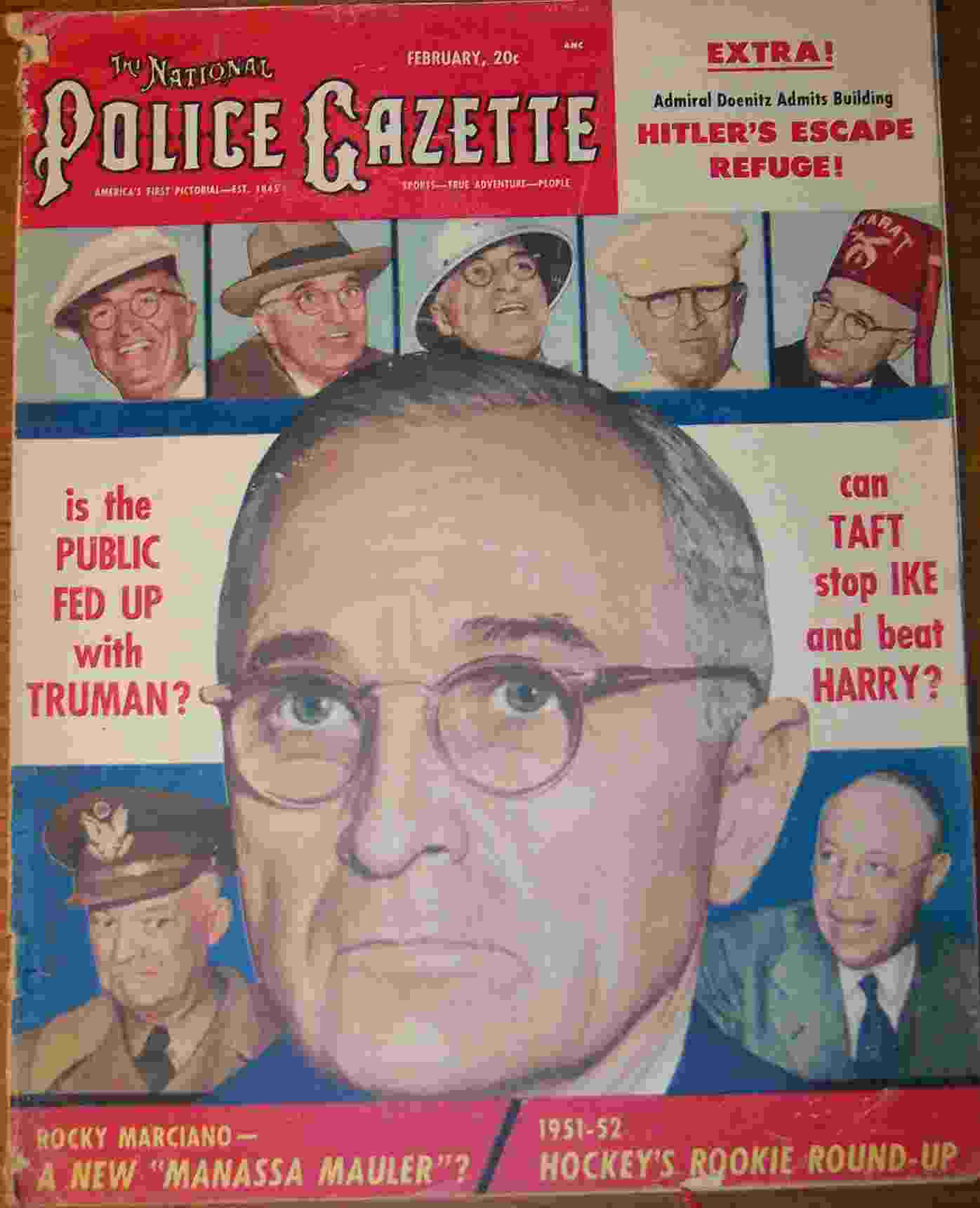 Image for The National Police Gazette February 1952