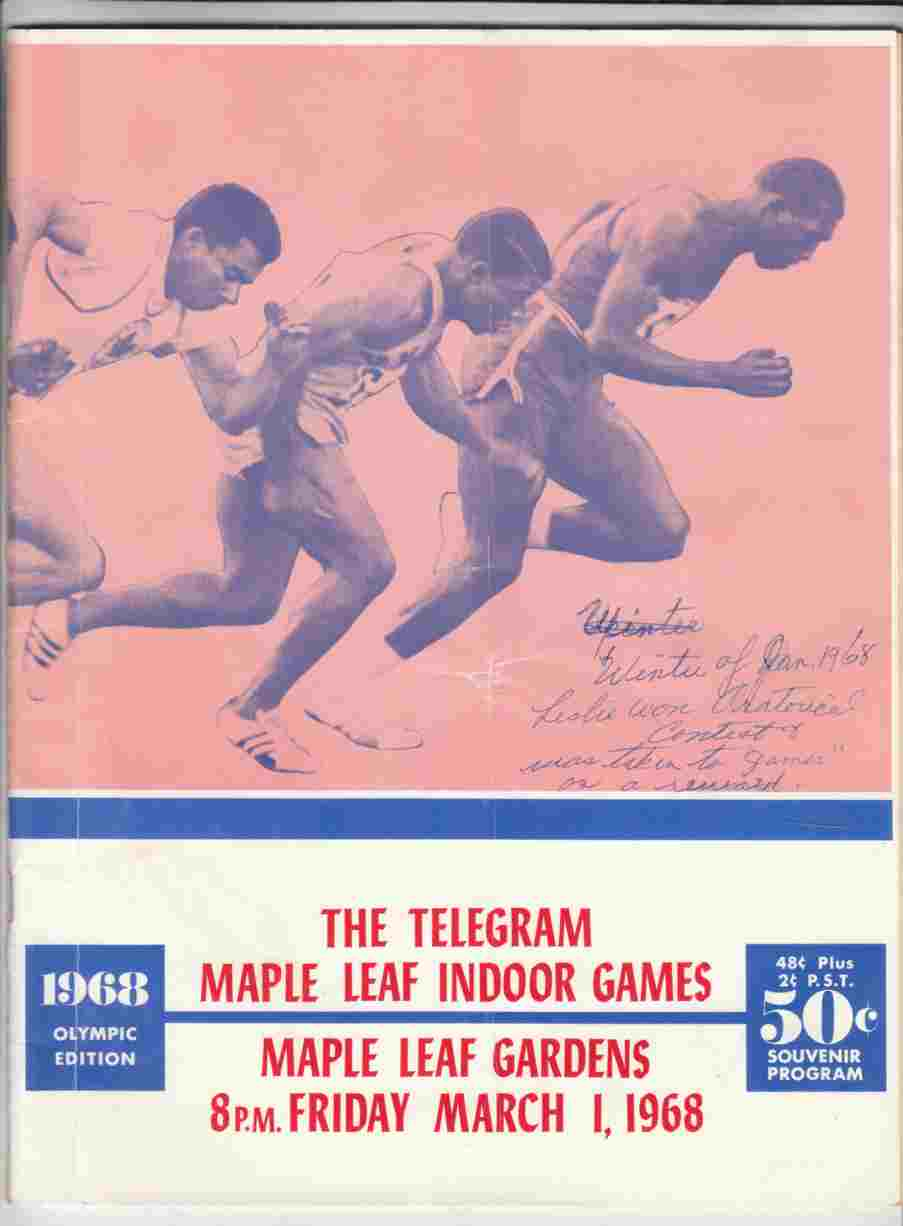 Image for The Telegram-Maple Leaf Indoor Games 1968