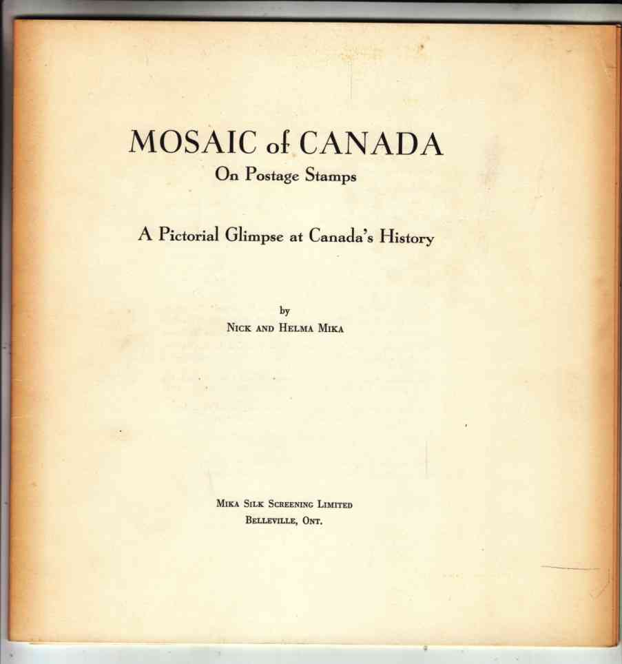 Image for Mosaic of Canada on Postage Stamps A Pictorial Glimpse At Canada's History