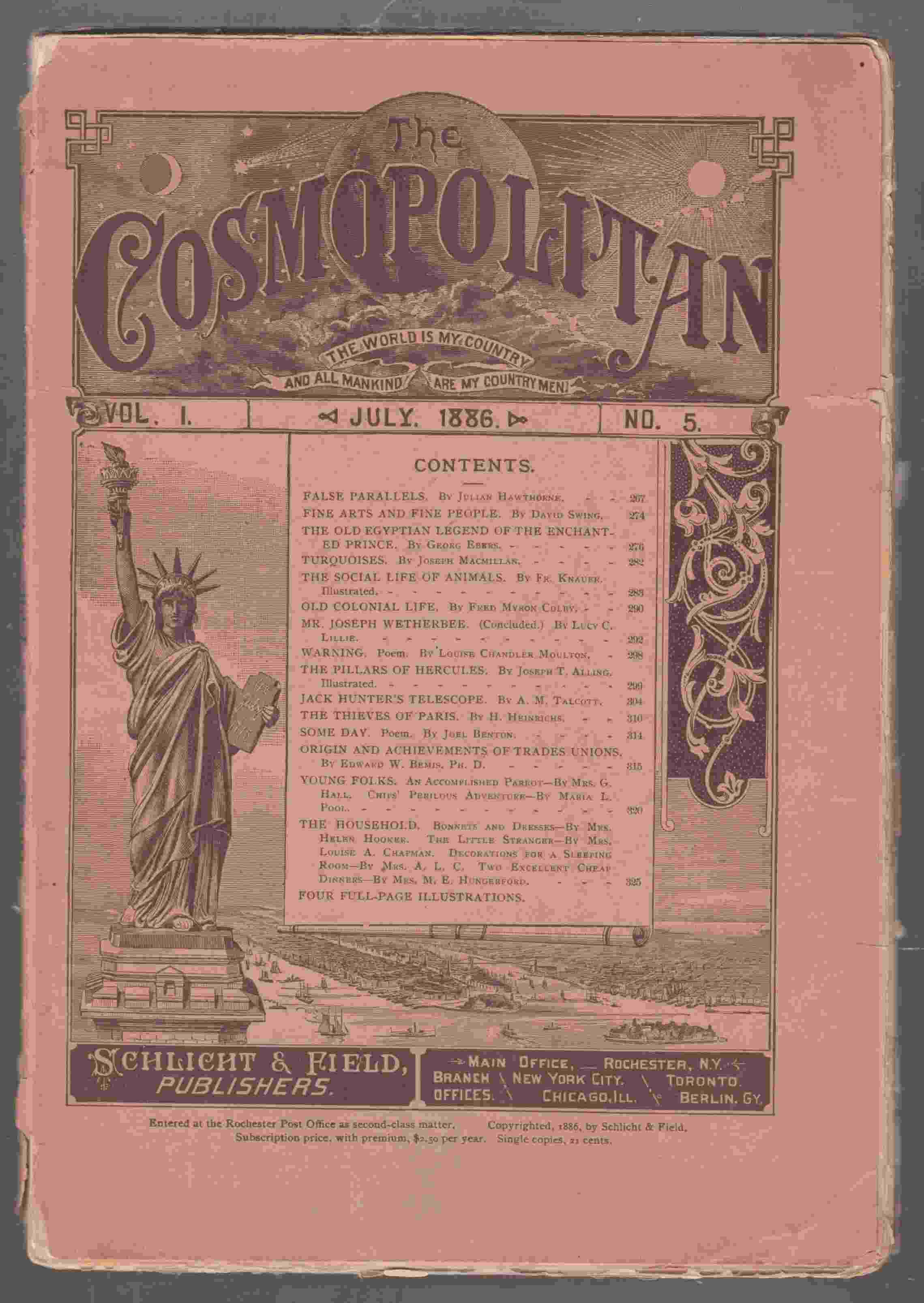 Image for The Cosmopolitan Vol. 1 No. 5 July 1886