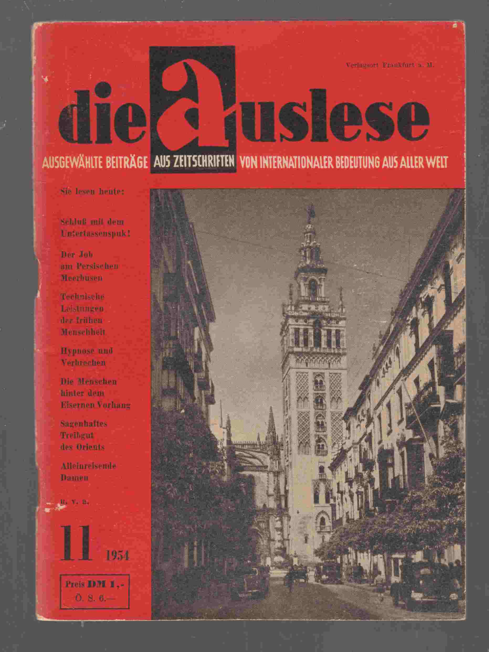 Image for Die Auslese