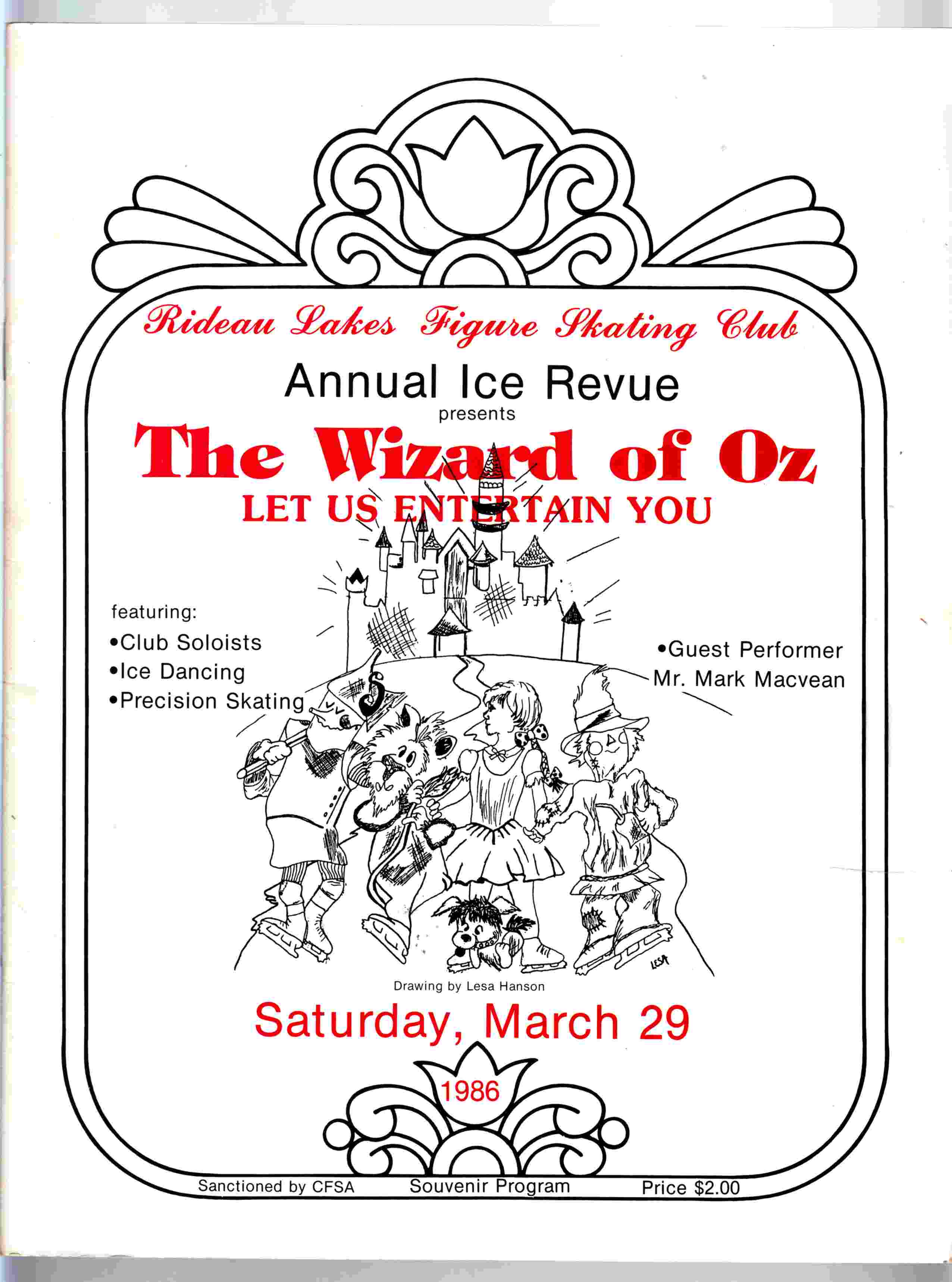 Image for Rideau Lakes Figure Skating Club Annual Ice Revue 1986 The Wizard of Oz