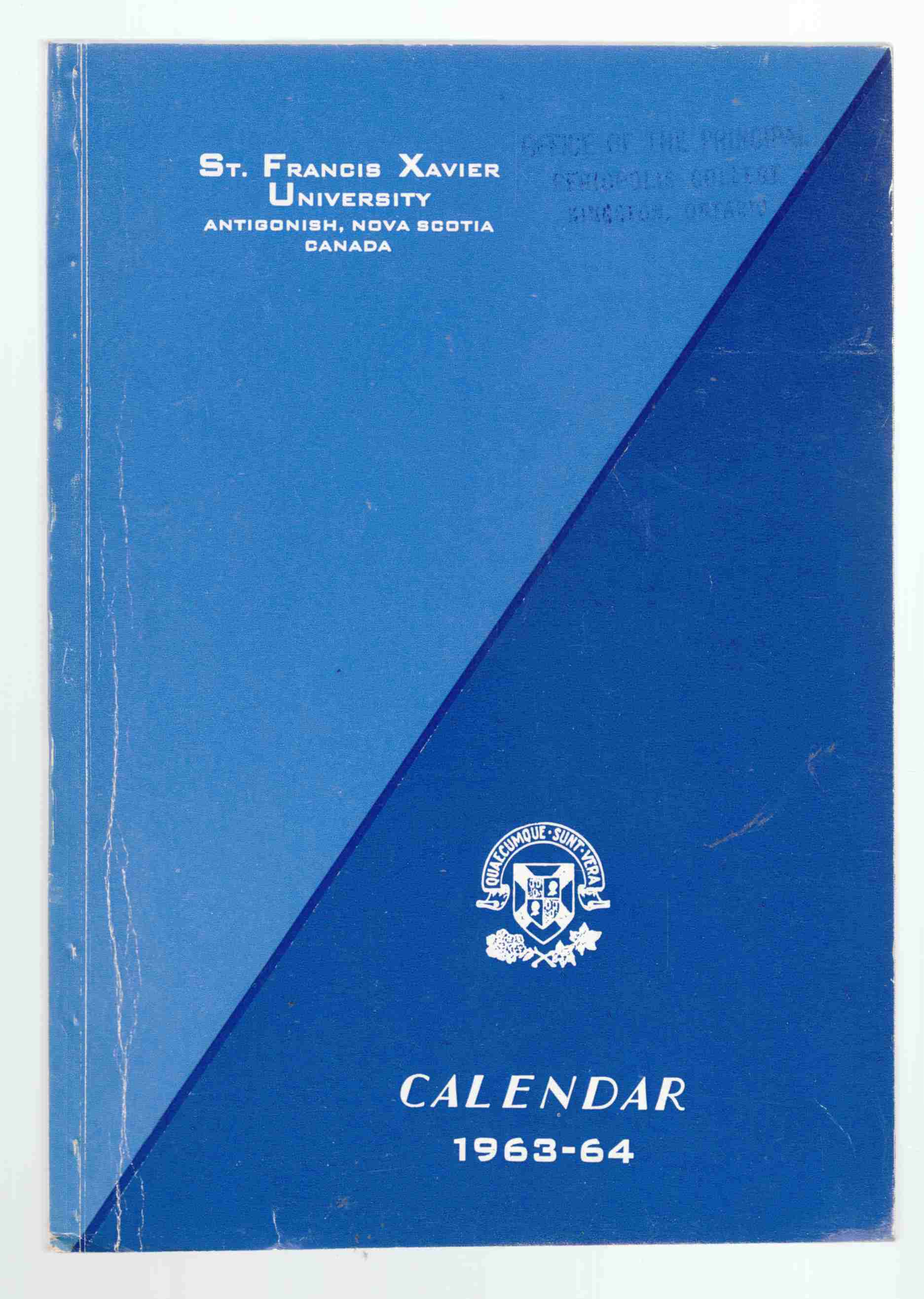 Image for Saint Francis Xavier University General Calendar 1963-64