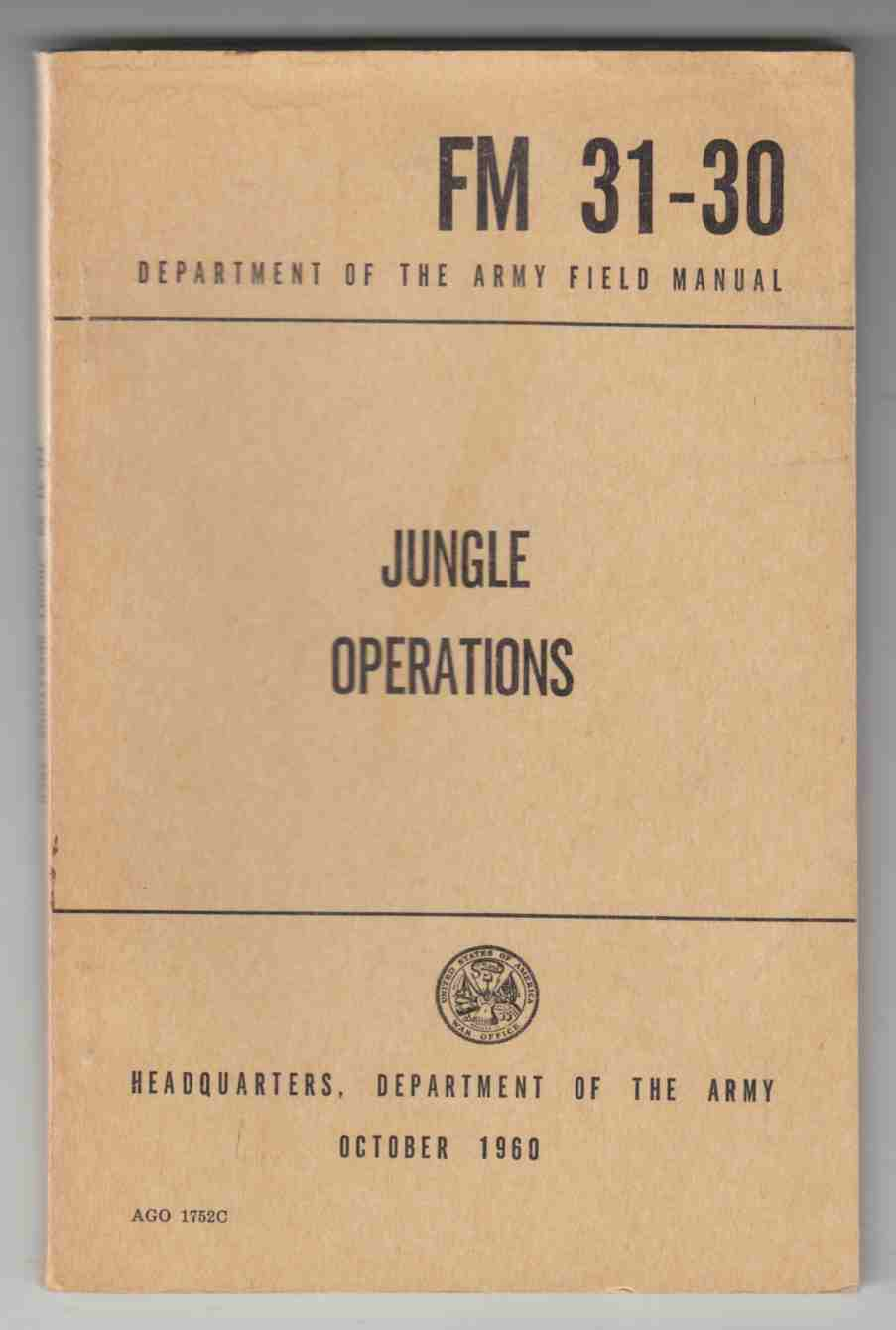 Image for Jungle Operations FM 31-30