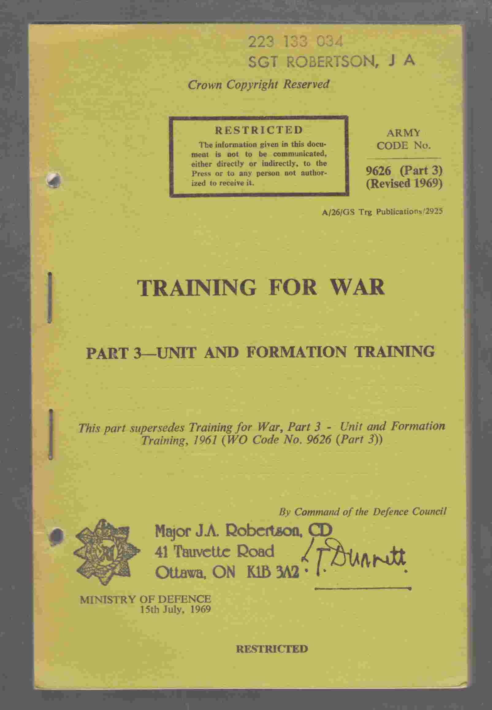 Image for Training for War Part 3 - Unit and Formation Training
