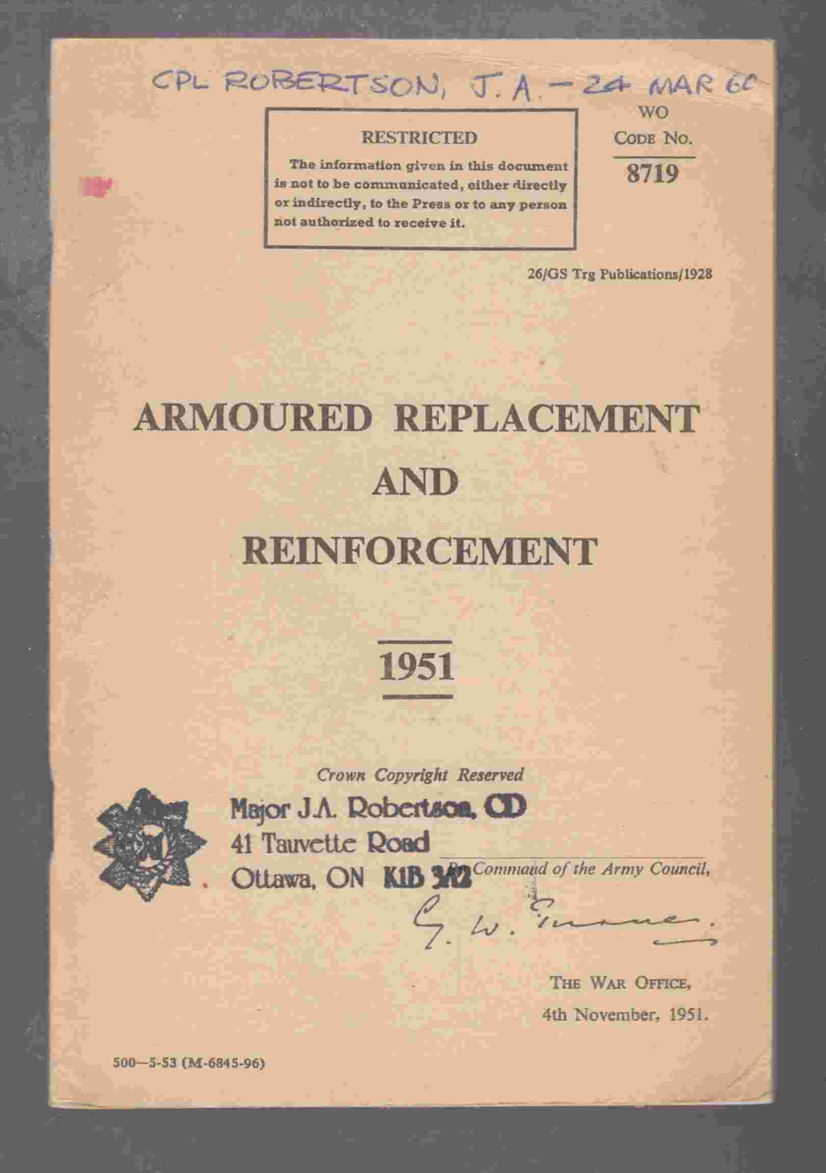 Image for Armoured Replacement and Reinforcement
