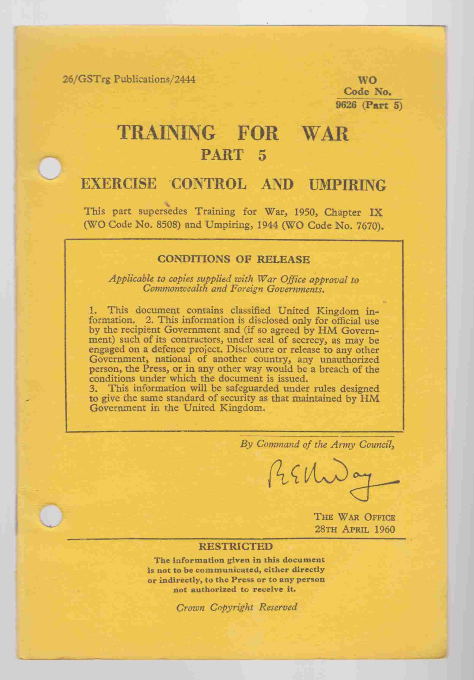 Image for Training for War Part 5 - Exercise Control and Umpiring
