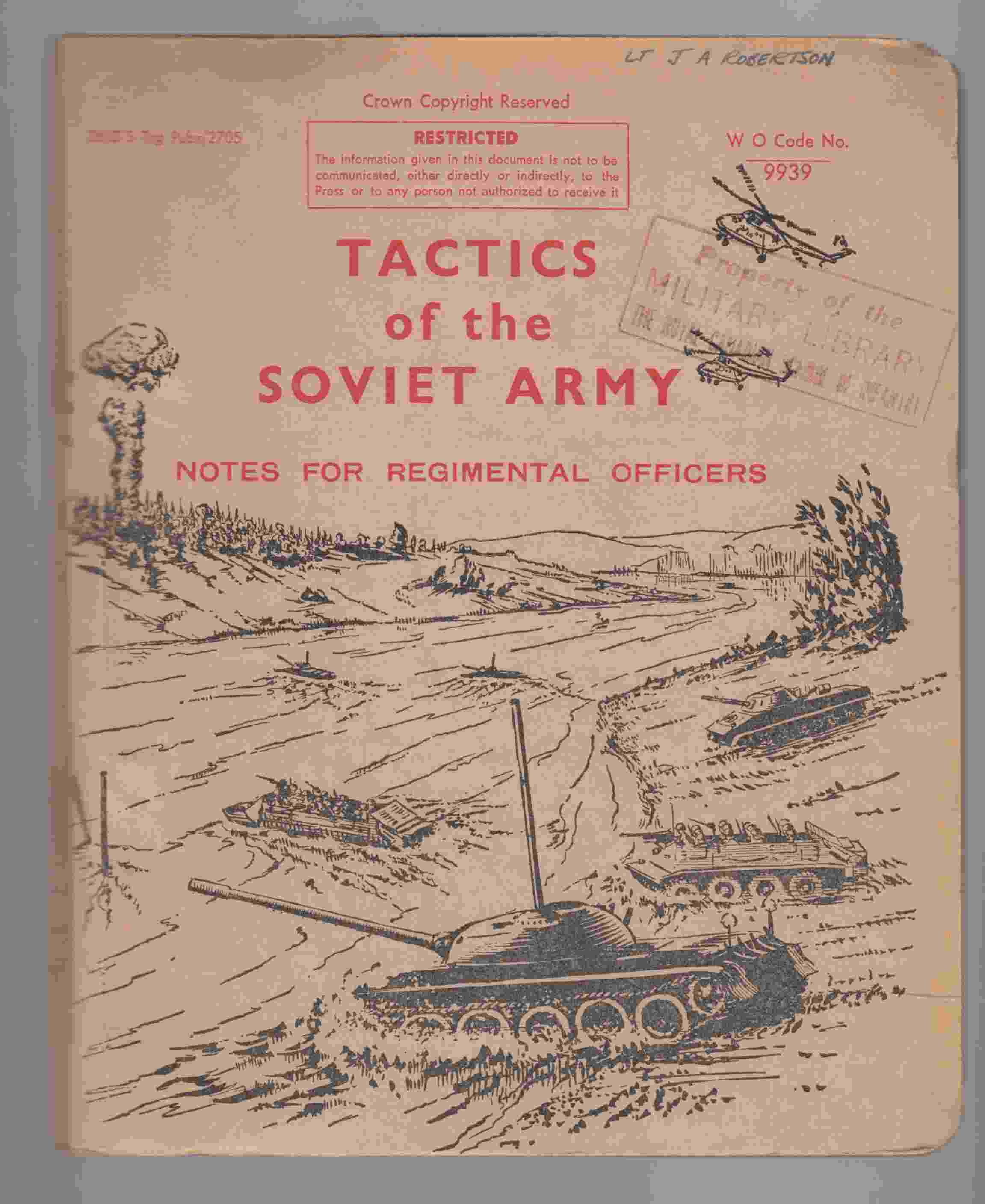 Image for Tactics of the Soviet Army Notes for Regimental Officers