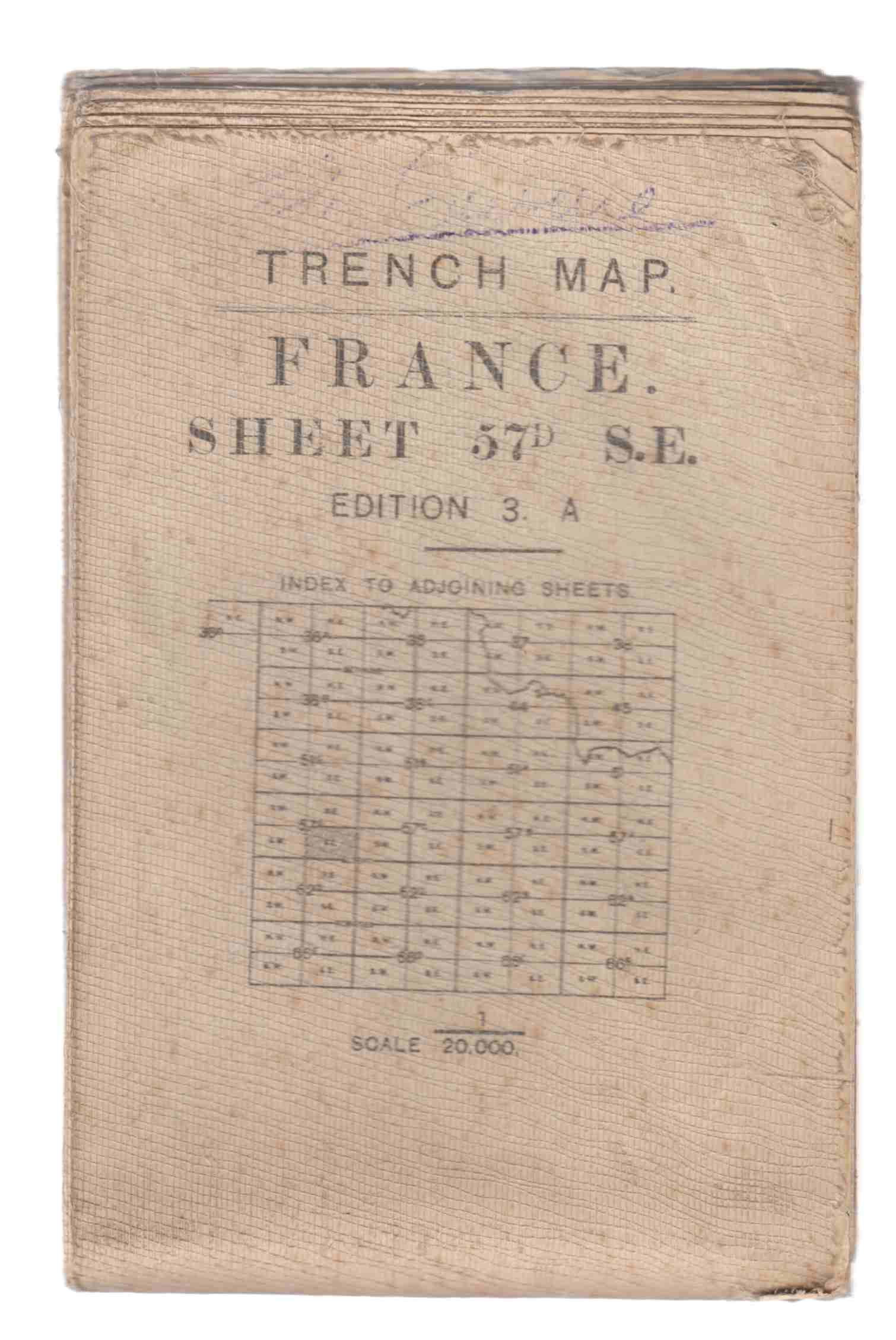 Image for Trench Map Frence Sheet 57D S. E. Edition 3