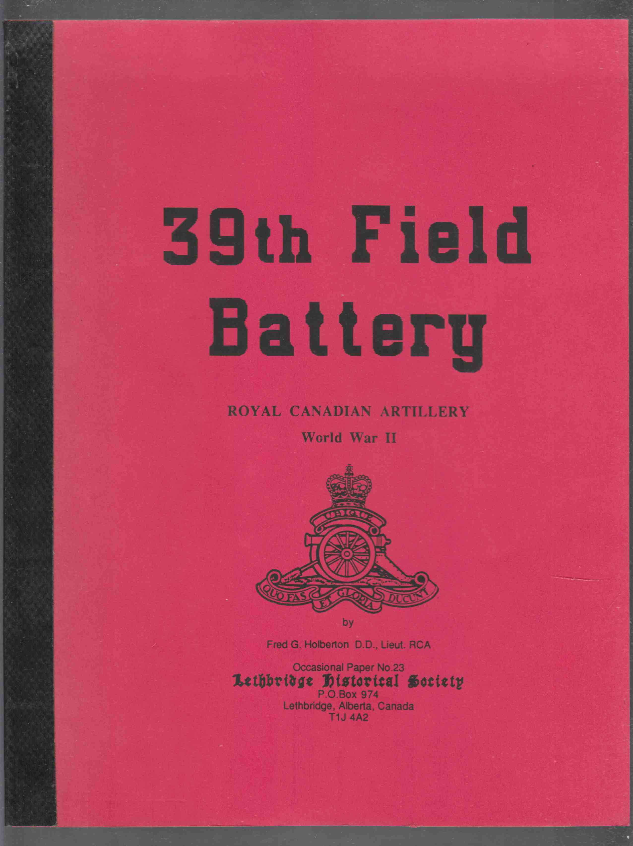 Image for 39th Field Battery Royal Canadian Artillery World War II