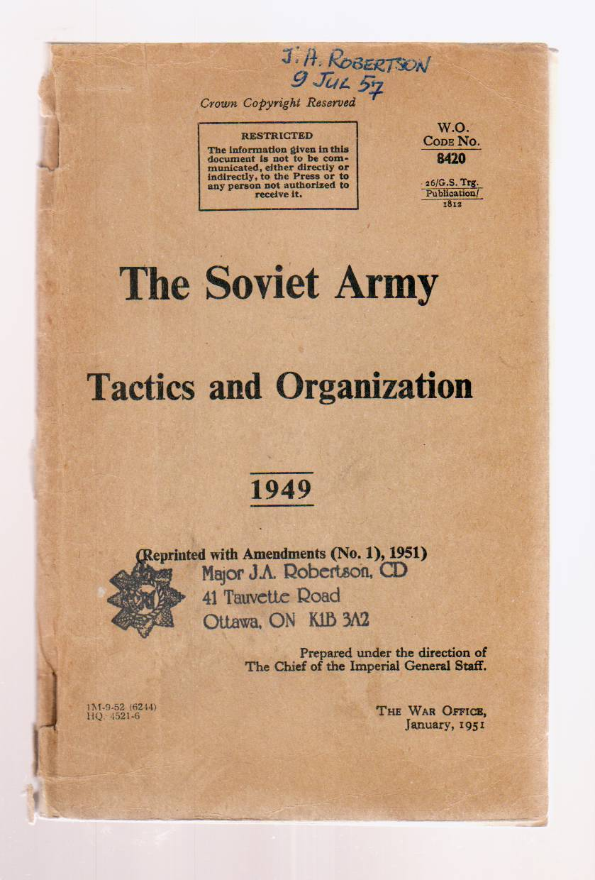 Image for The Soviet Army Tactics and Organization 1949