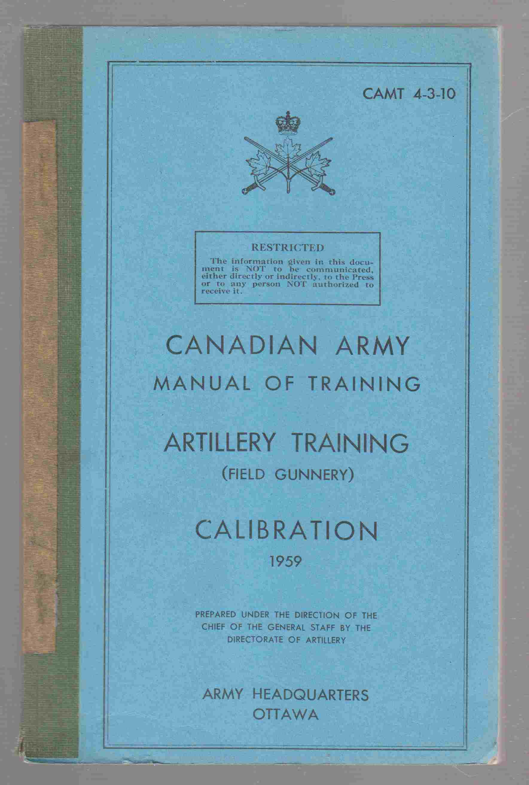 Image for Artillery Training (Field Gunnery) : Calibration CAMT 4-3-10