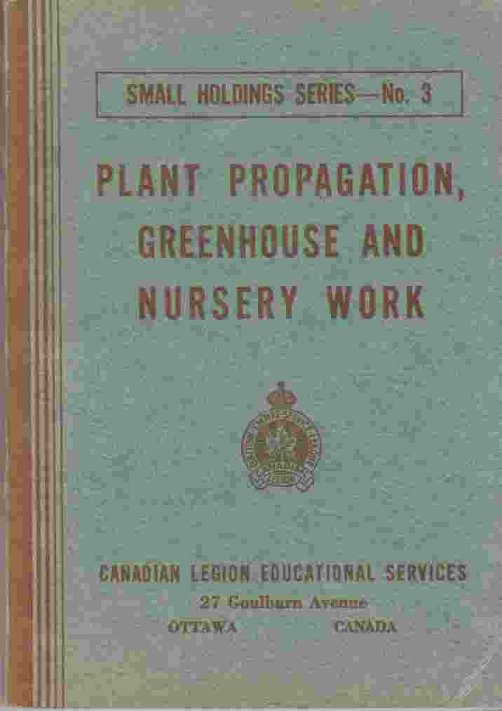 Image for Plant Propagation, Greenhouse and Nursery Work