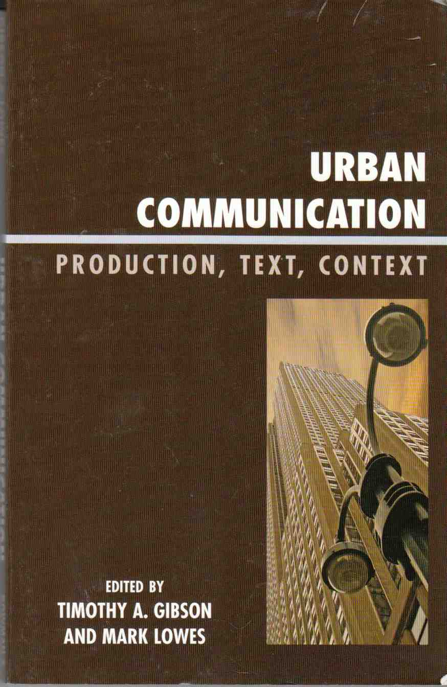 Image for Urban Communication Production, Text, Context