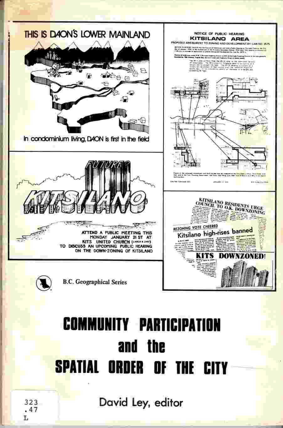 Image for Community Participation and the Spatial Order of the City