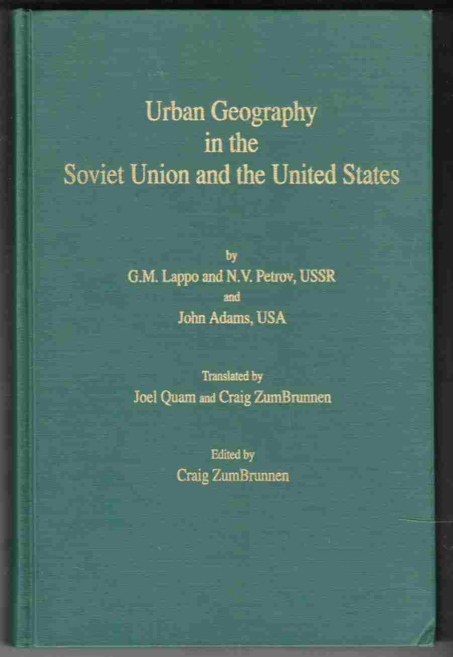 Image for Urban Geography in the Soviet Union and United States