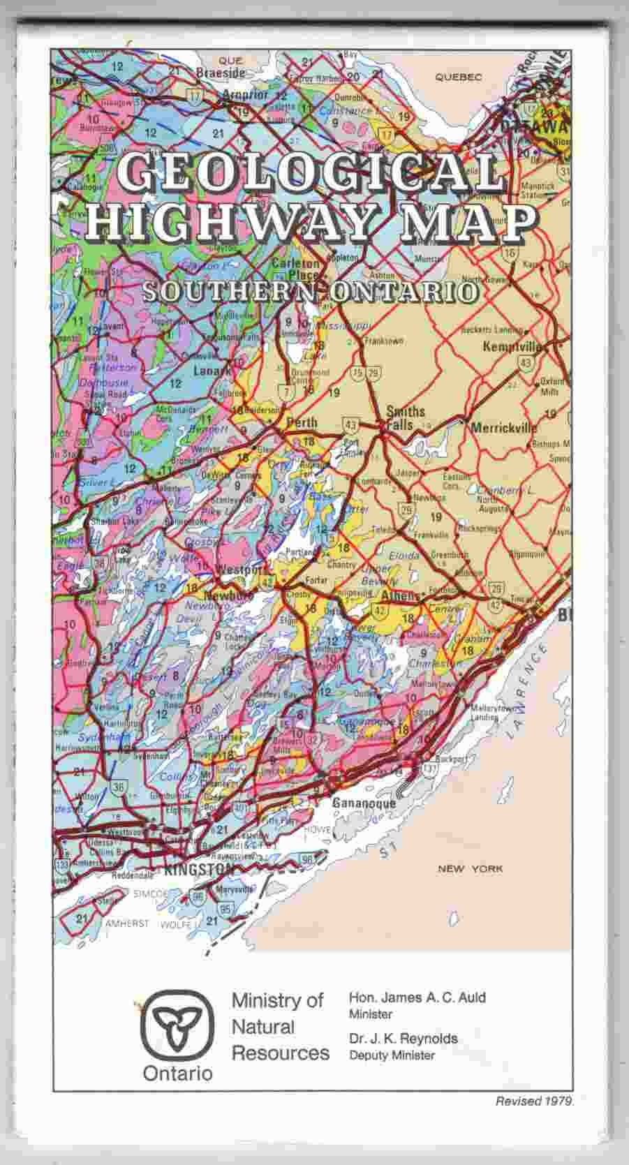 Geological Highway Map Southern Ontario
