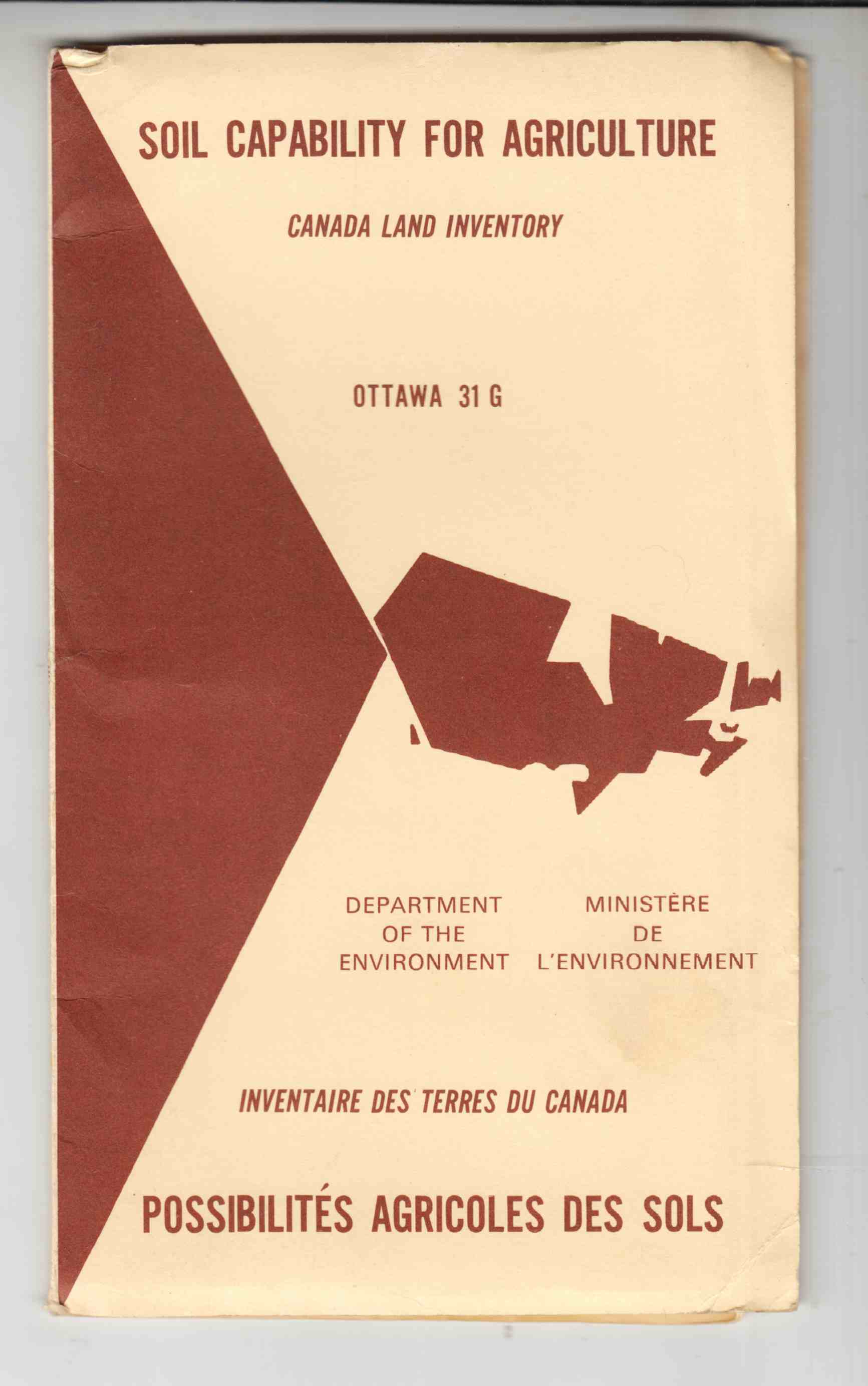 Image for Soil Capability for Agriculture - Canada Land Inventory Ottawa 31 G